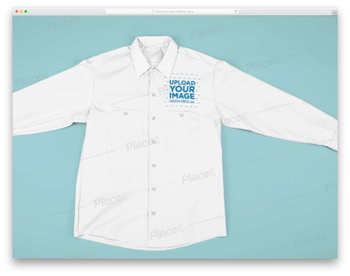 full sleeve shirt mockup