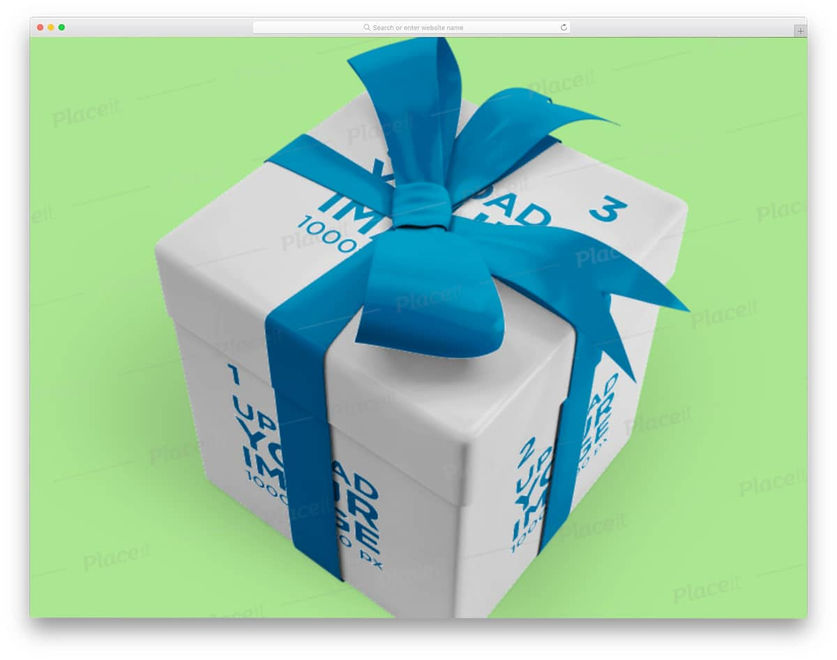 easy-to-edit gift box mockup