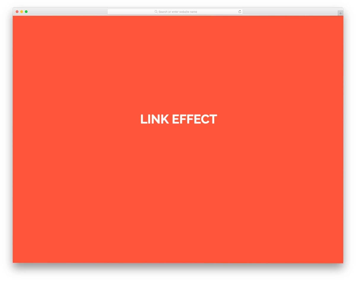 CSS menu link effect for WordPress sites