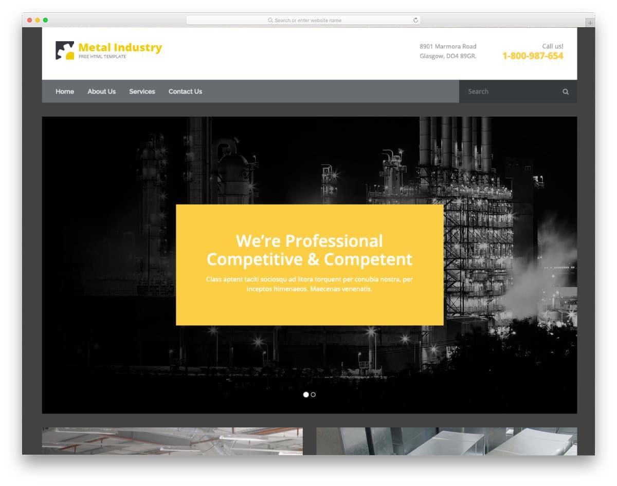 construction materials website template