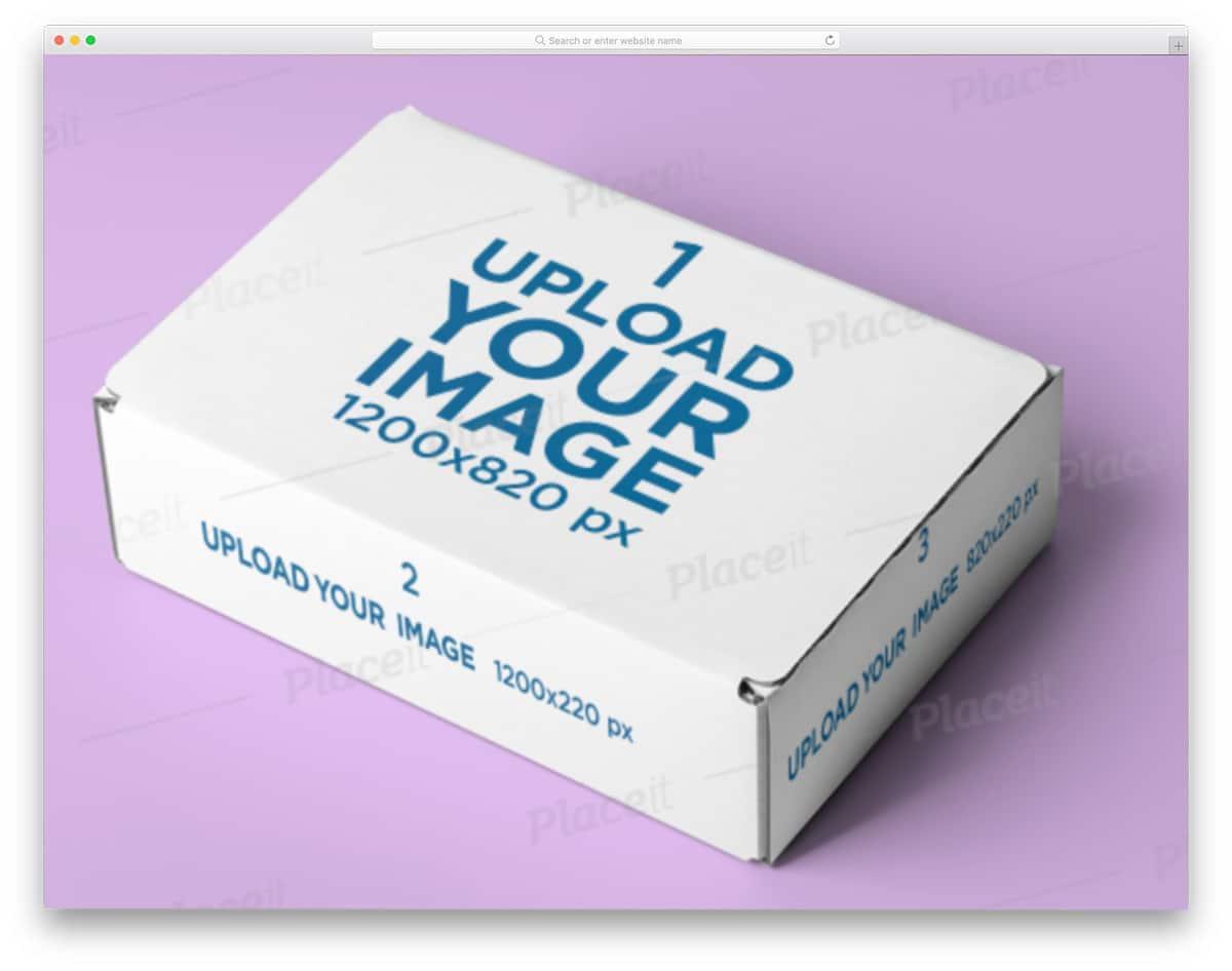 cardbox packaging mockup
