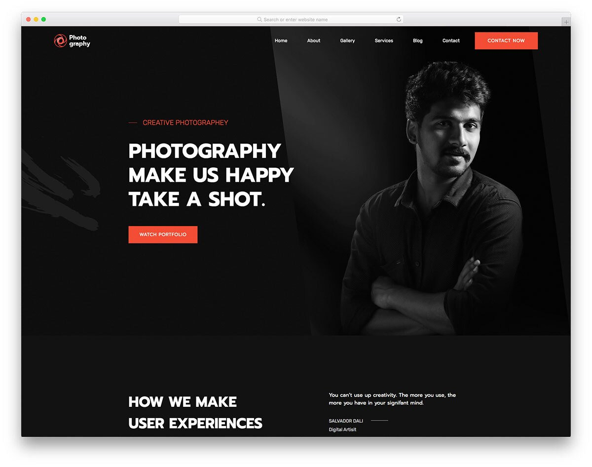 photography website template for photographers