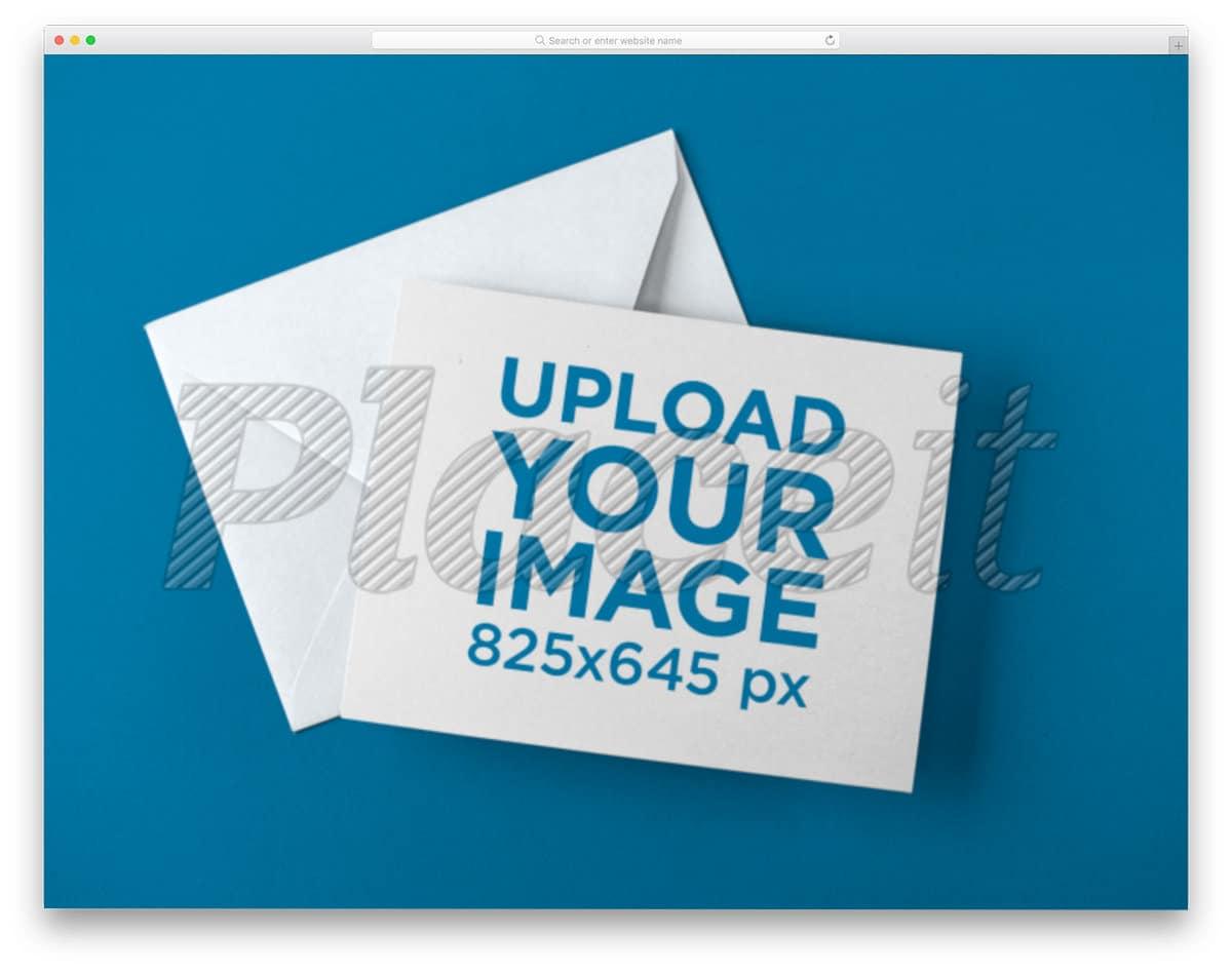 envelope and postcard mockup