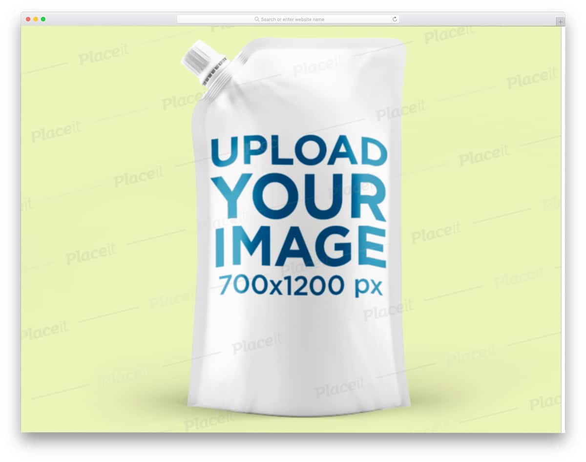 pouch packaging mockup for liquid items