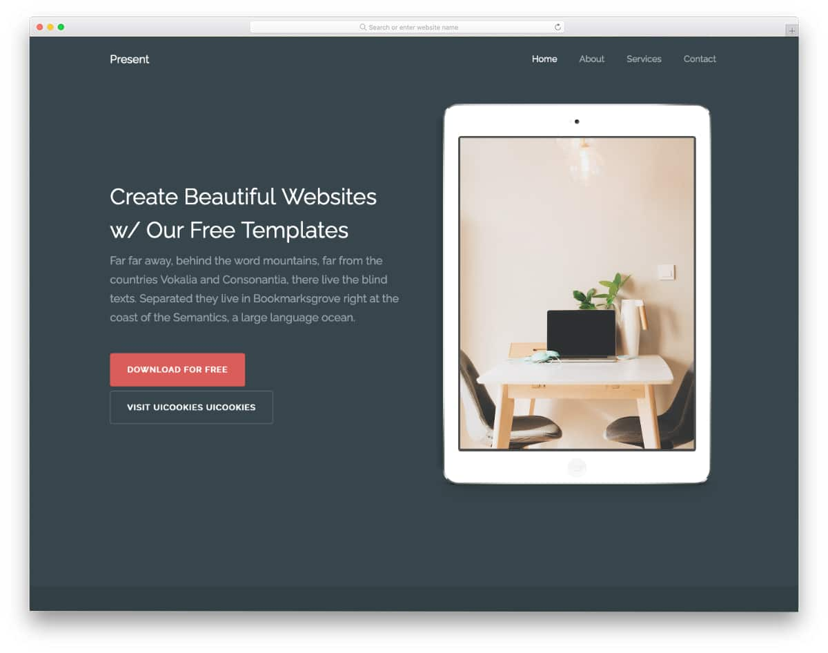 simple HTML bank website template
