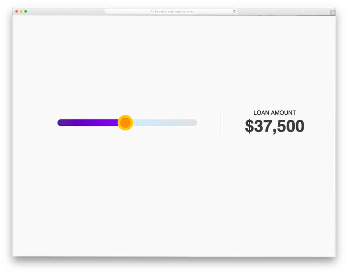 contemporary-style price range slider