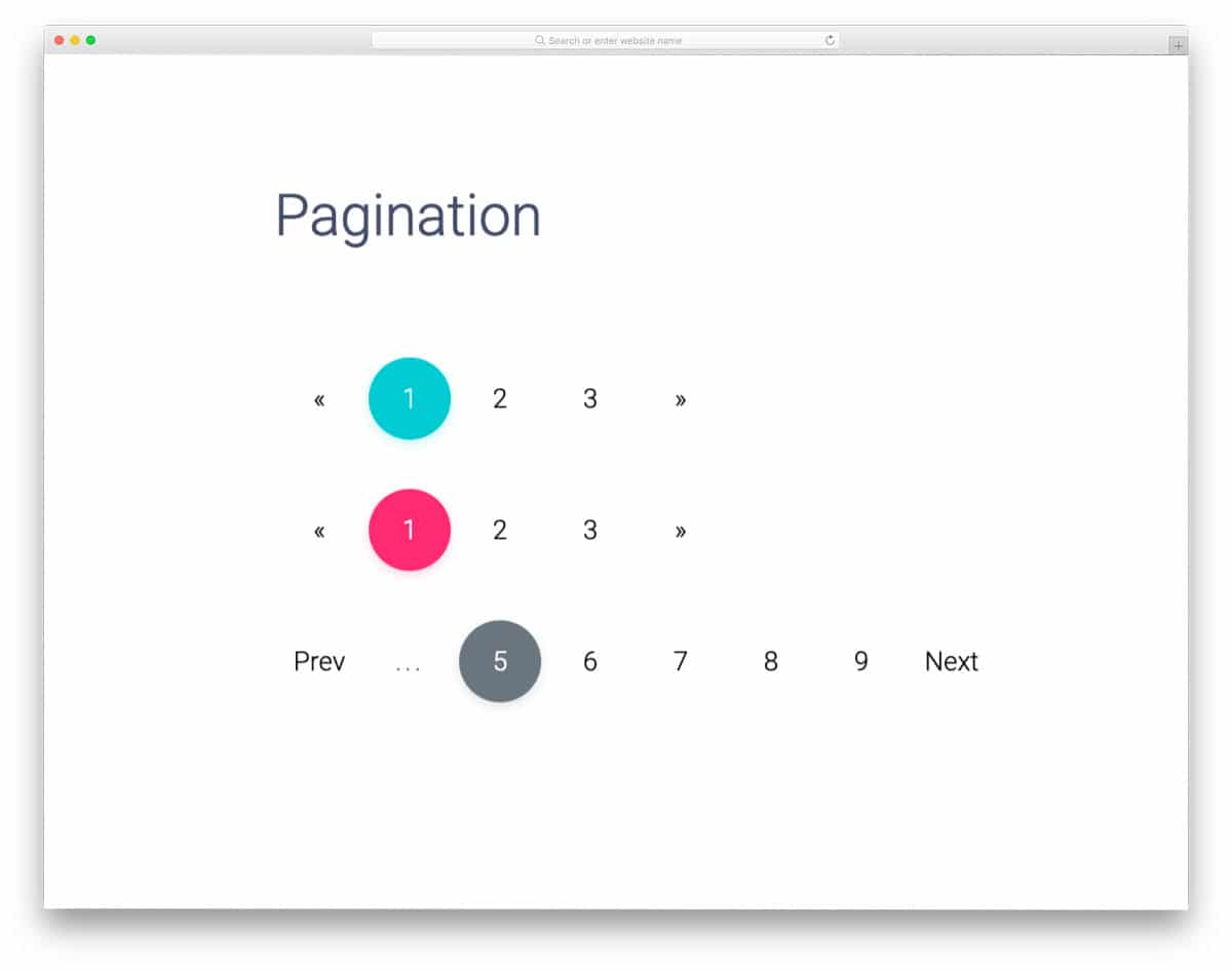easy-to-use CSS pagination design