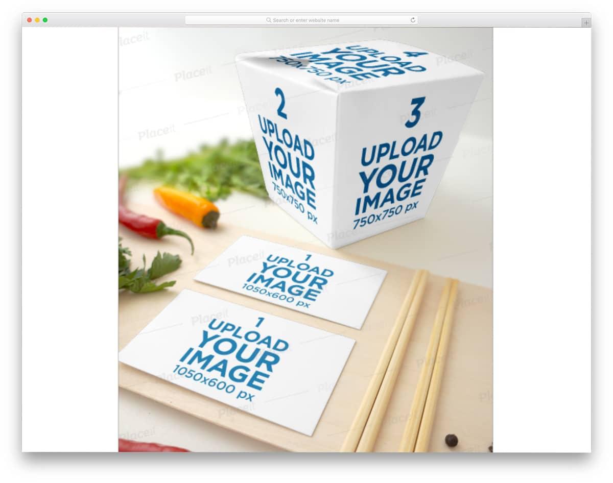 box mockup for restaurant businesses