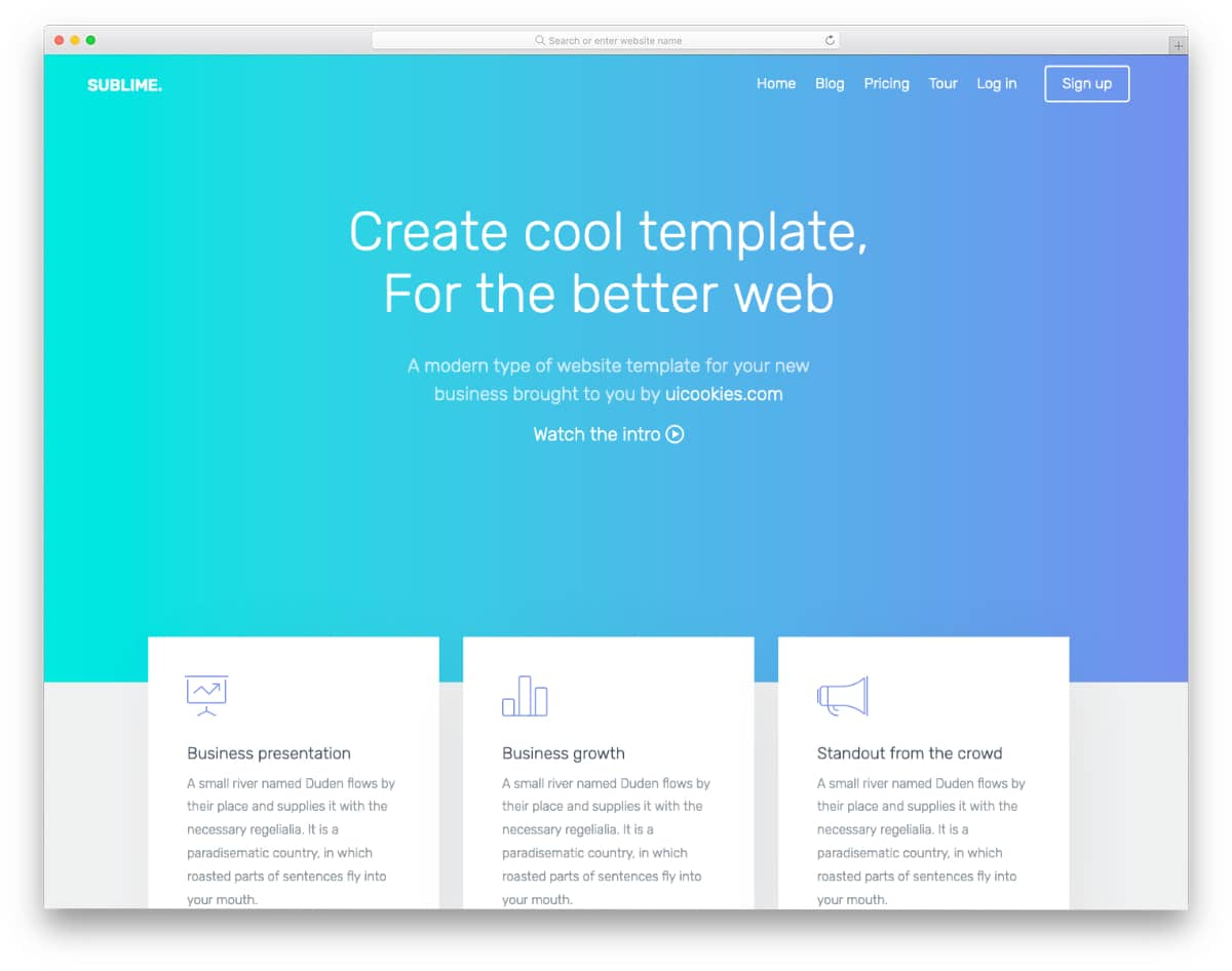 free landing page template HTML5