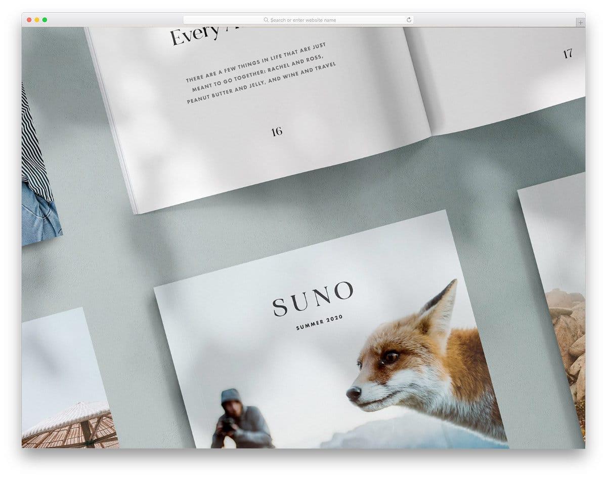 magazine mockup with multiple customization options