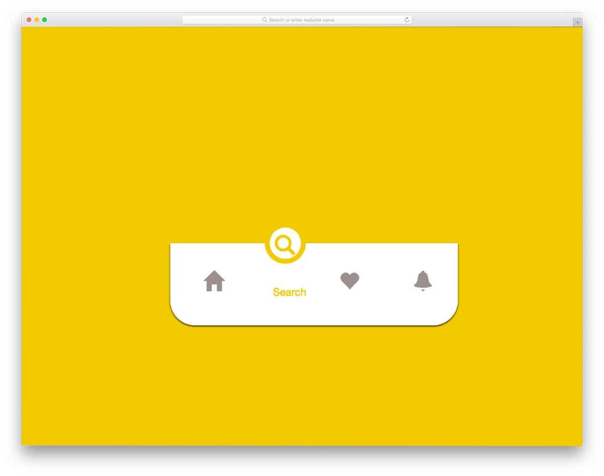 CSS tab bar mobile menu