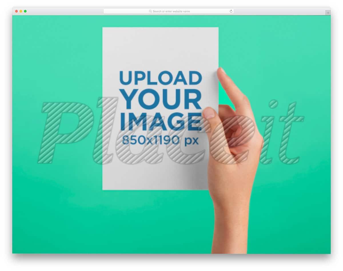 postcard mockup online