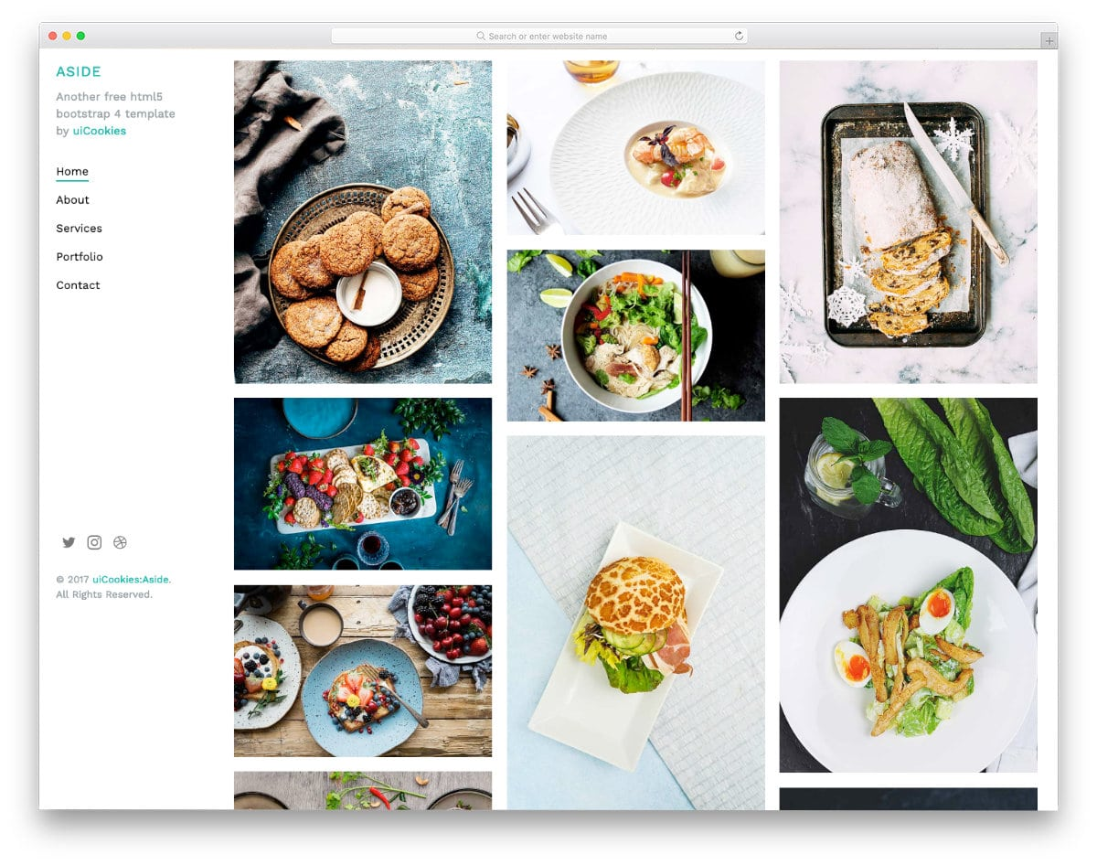 image-rich photography website template