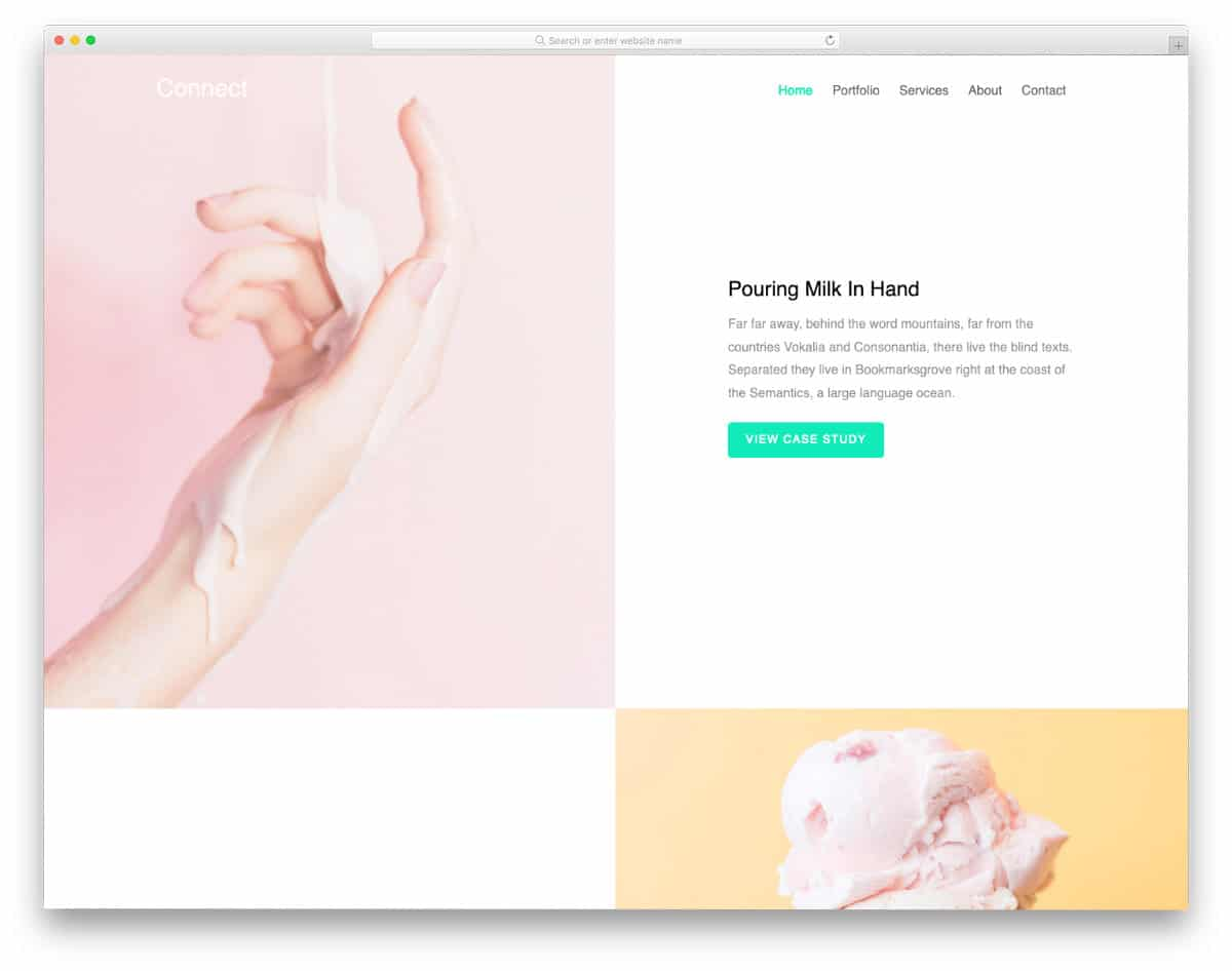 free photography template for bloggers