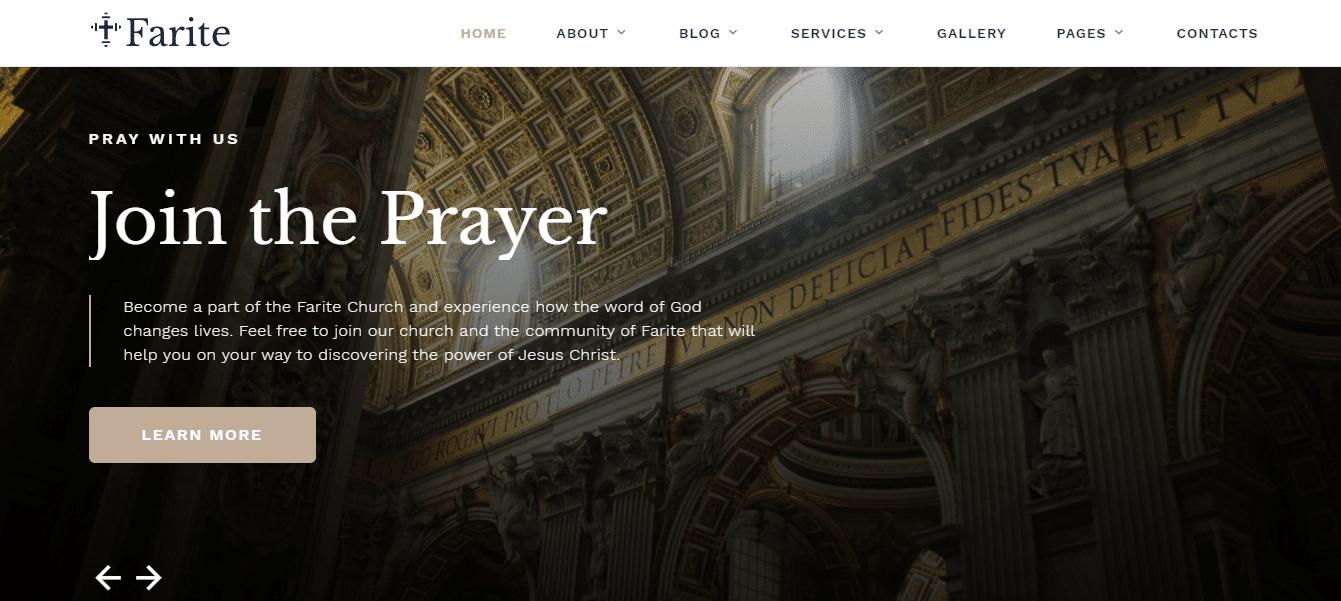 farite-church-website-template