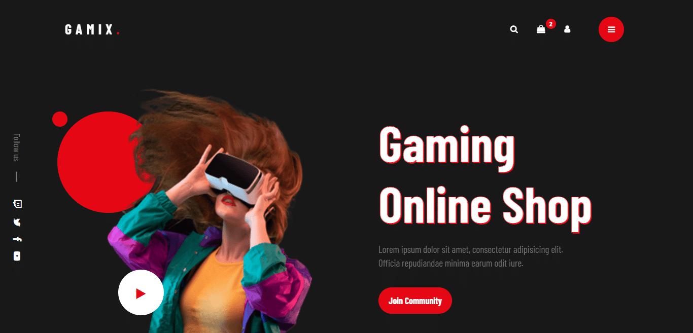 gamix-dark-website-template