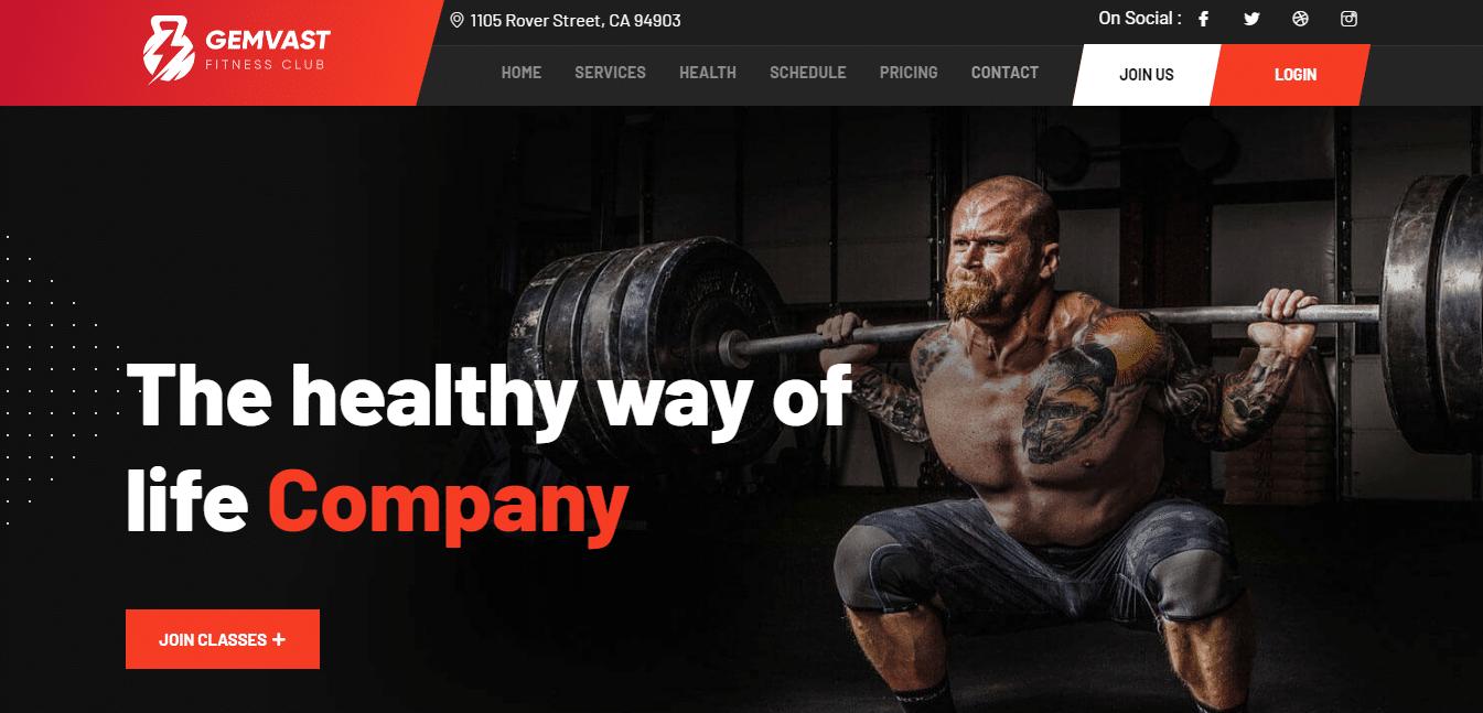 gemvast-sports-website-template