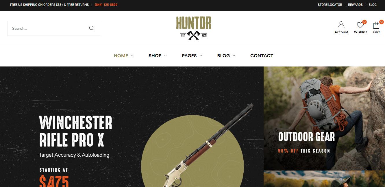 huntor-sports-website-template