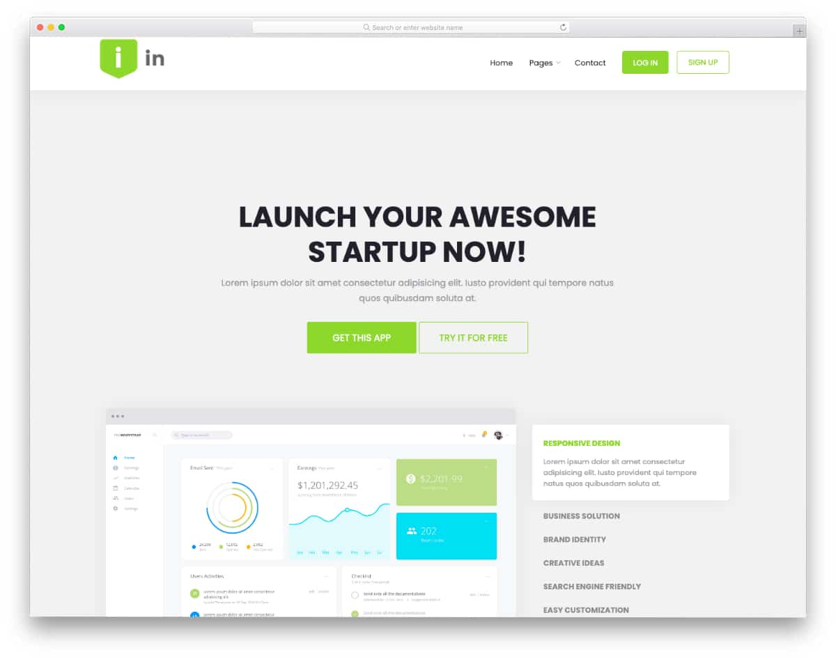 landing page template free download