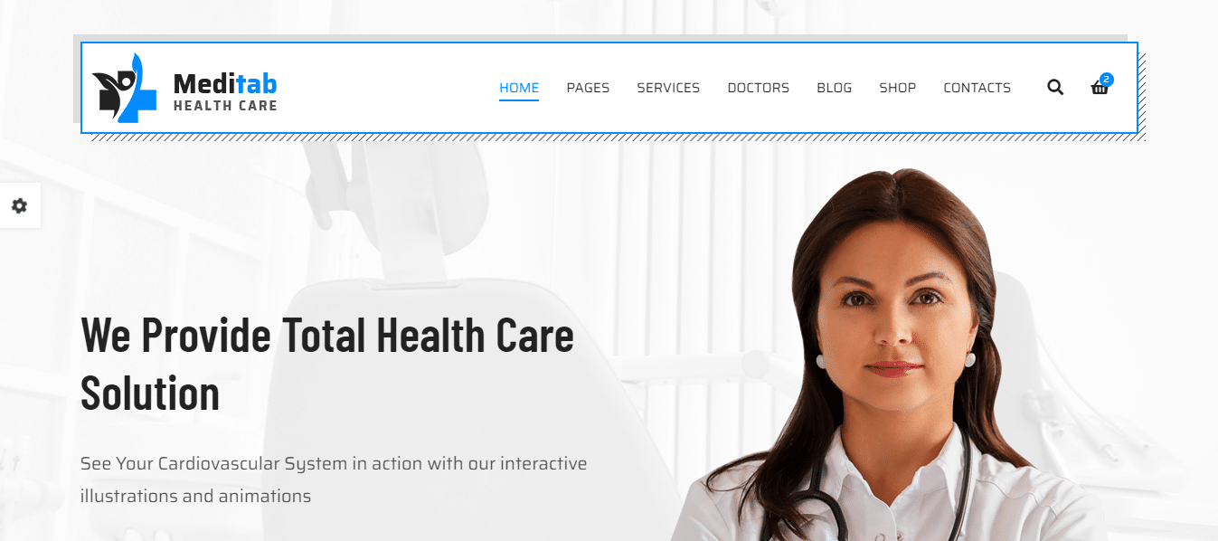 meditab-hospital-website-template