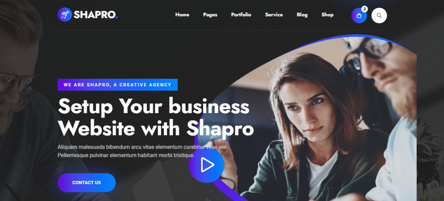 shapro-landing-page-website-template