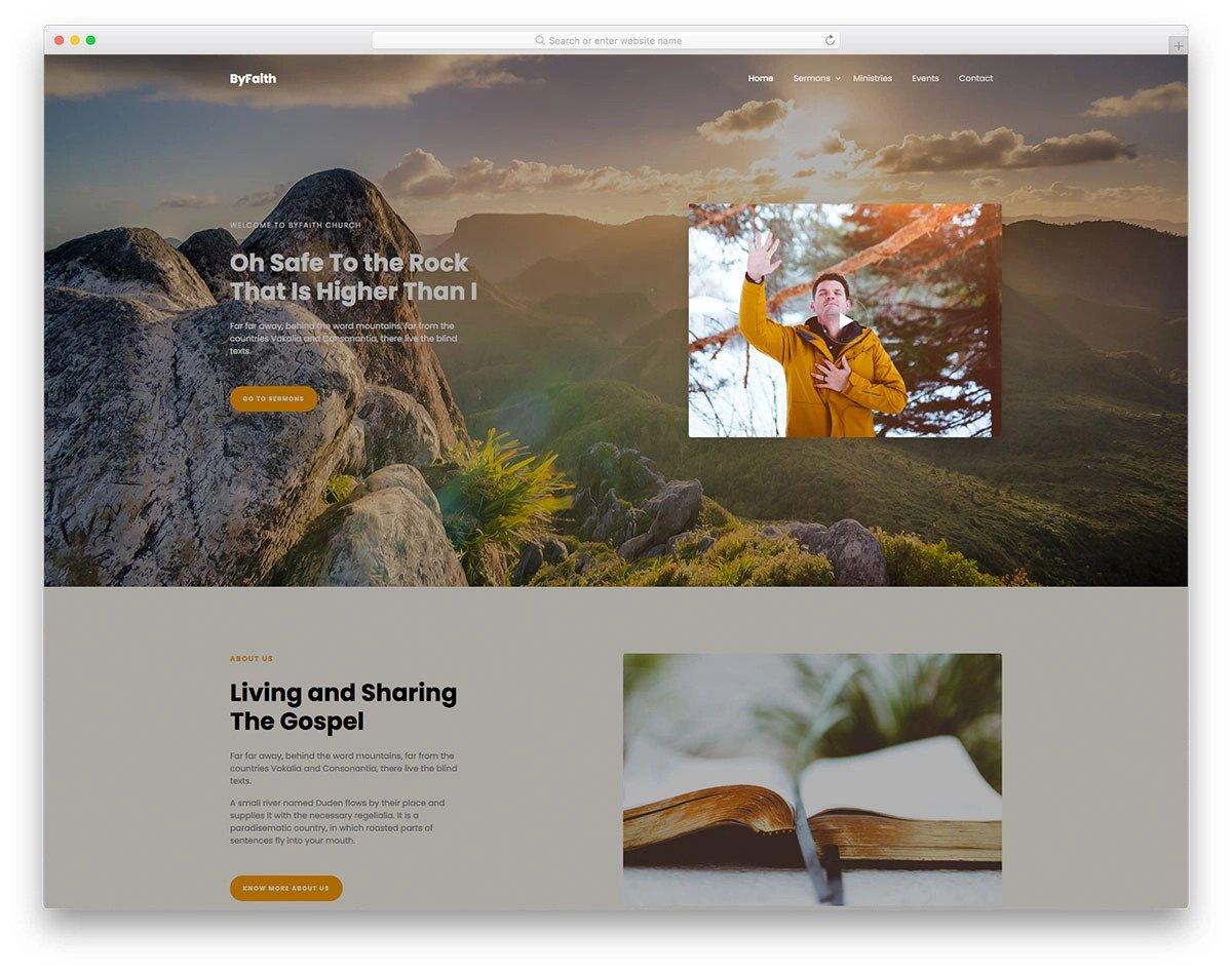 bootstrap 5 church website template