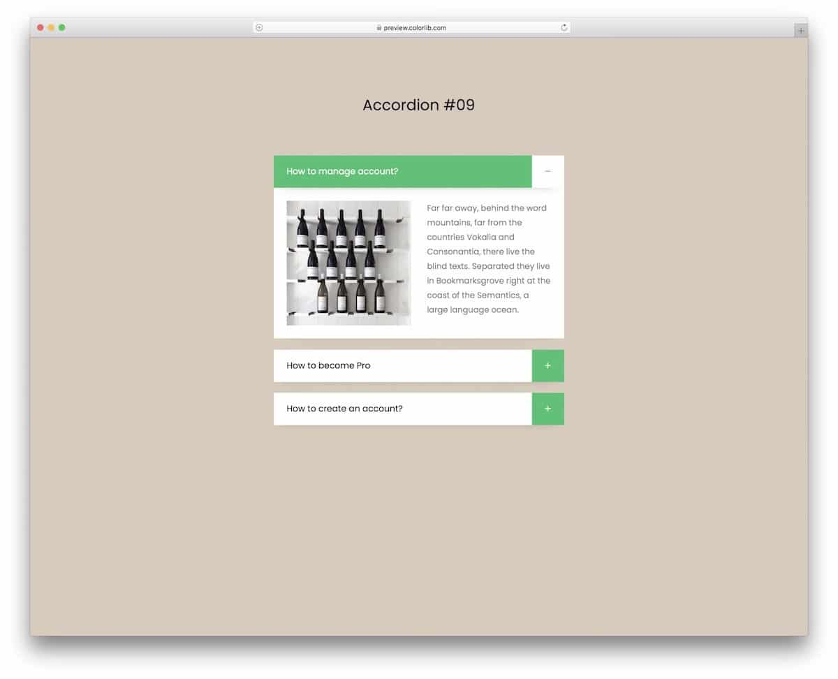 professional-looking CSS accordions
