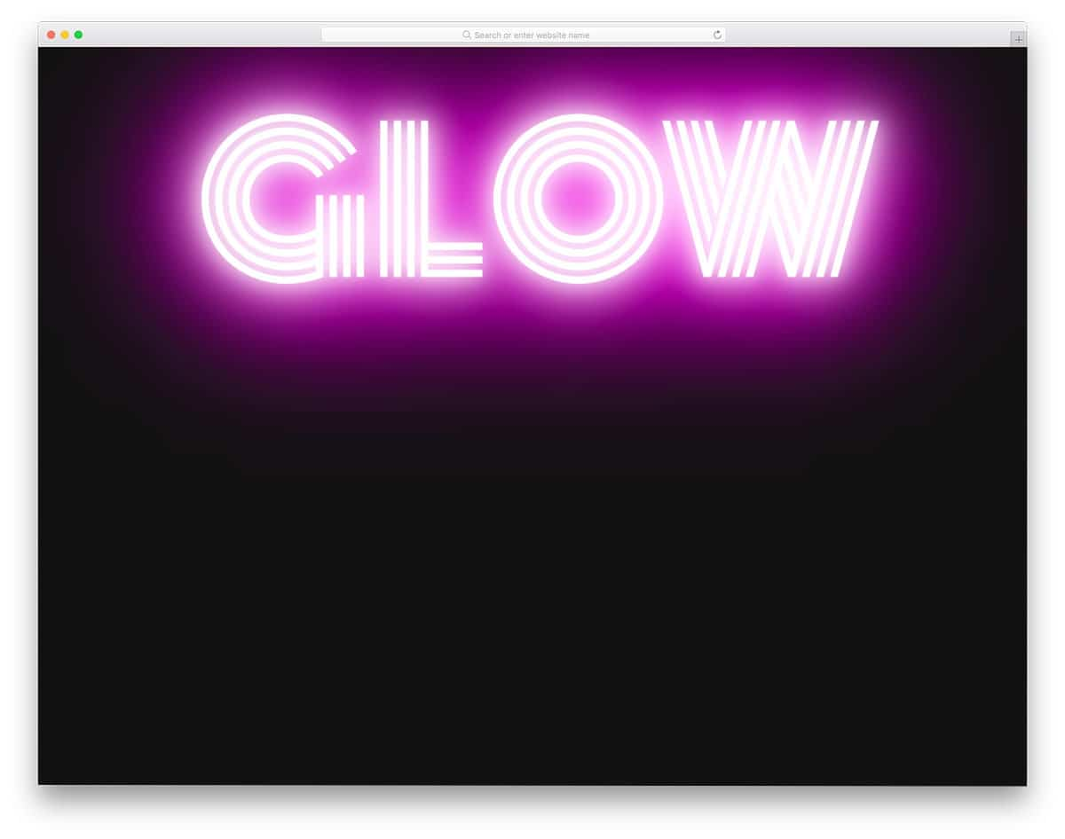 CSS text glow animation