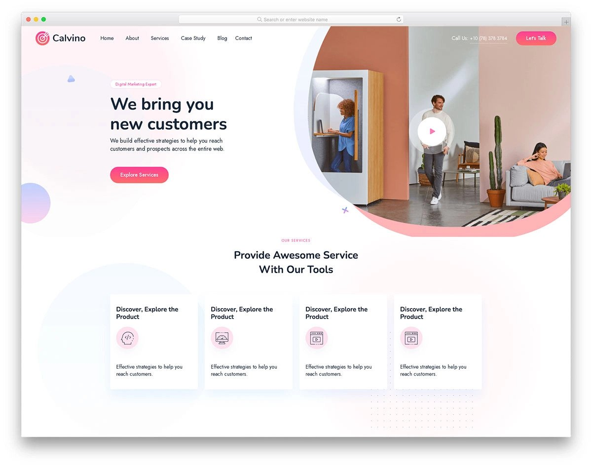 trendy-looking Bootstrap 5 web design template