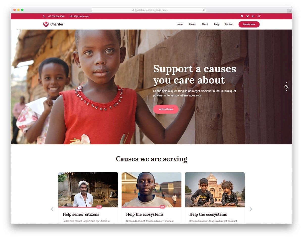 bootstrap 5 charity website template