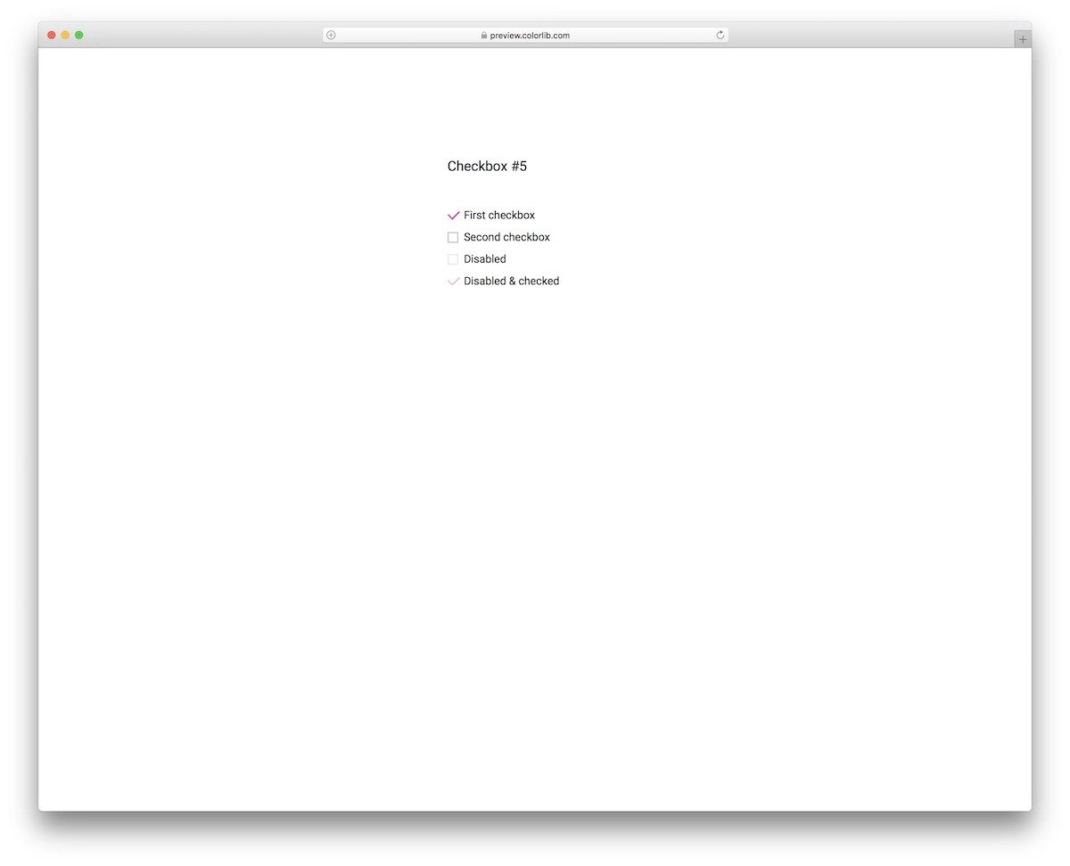 simple and beautiful CSS checkbox