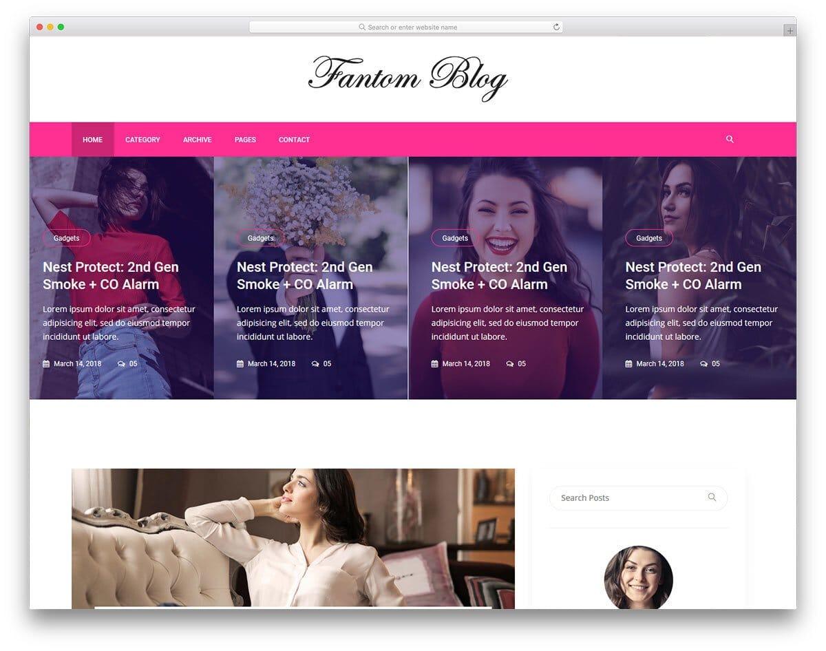 fashion news website template
