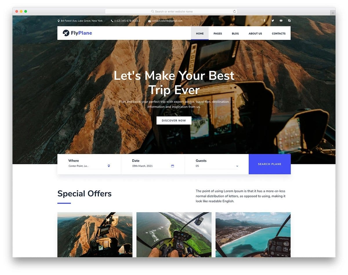ticket booking and travel agency HTML website template