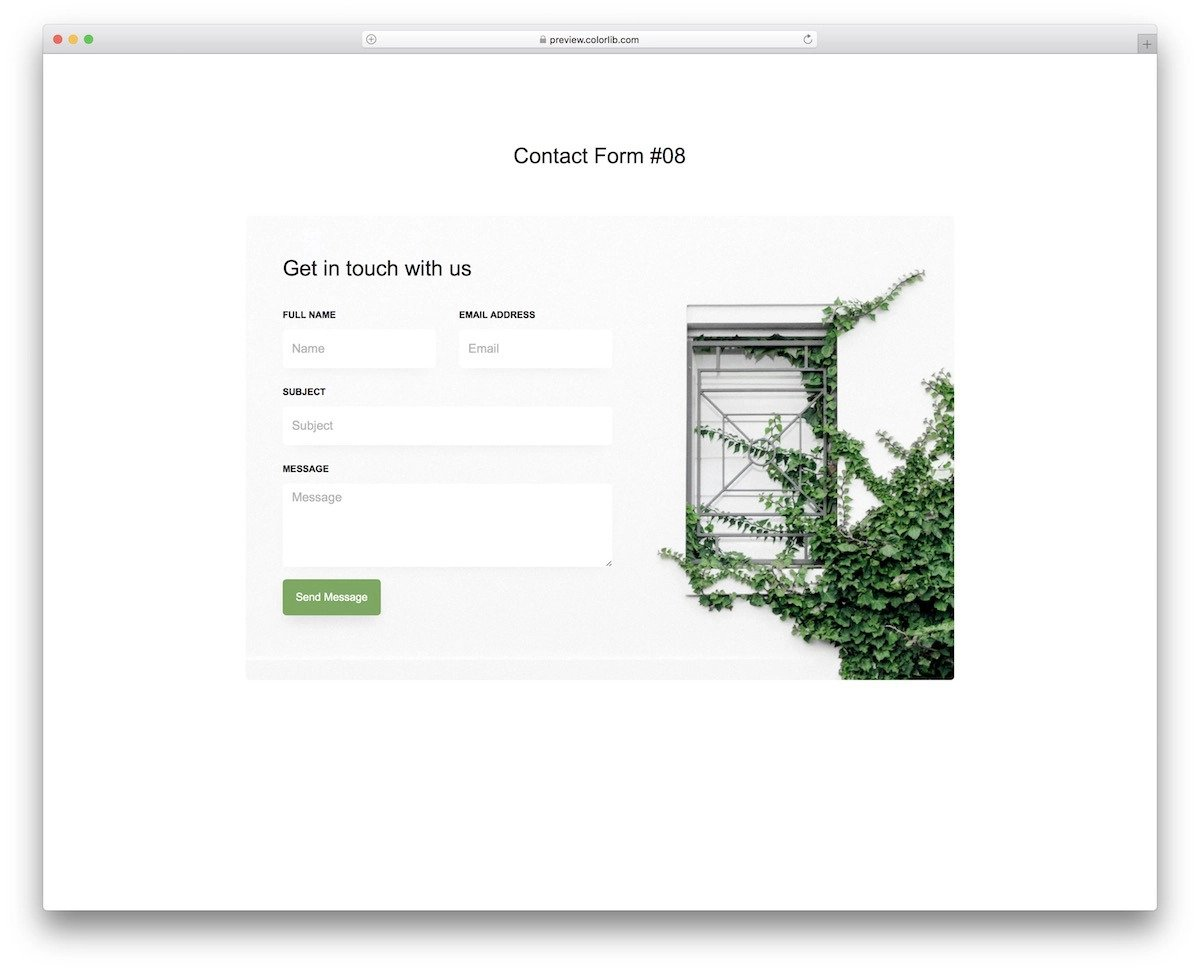 free HTML contact form code