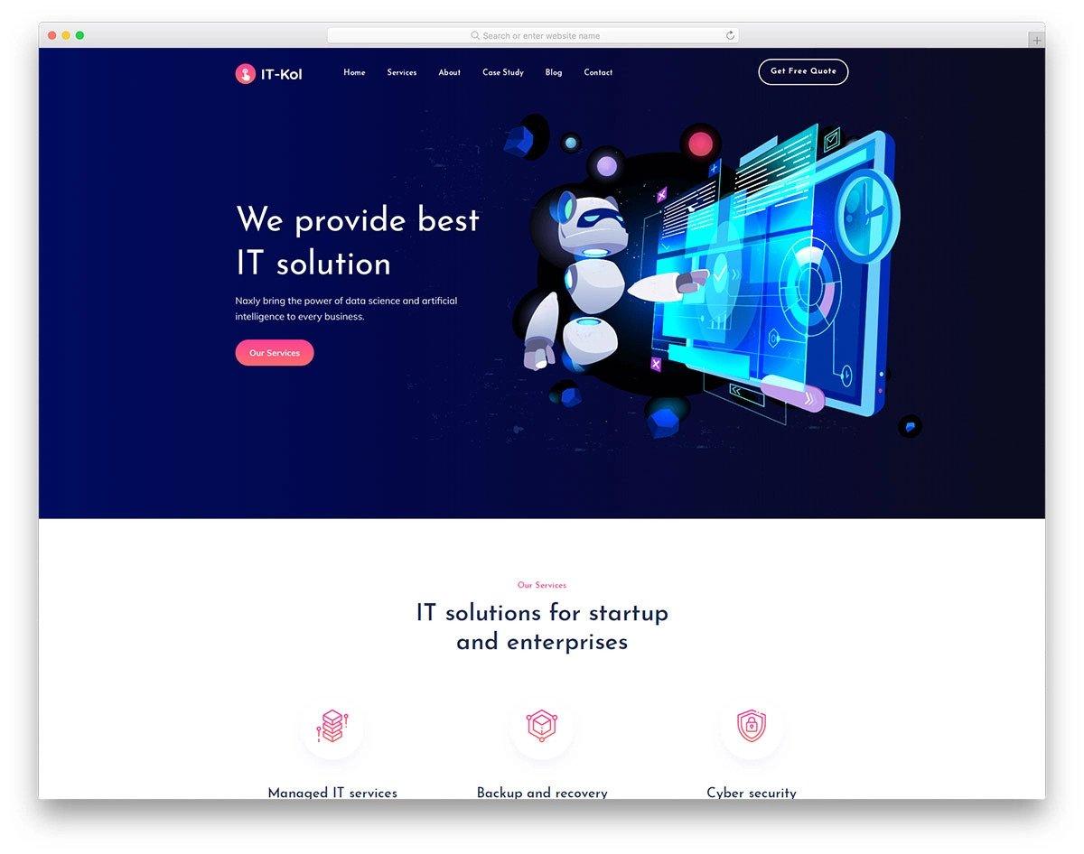 multipurpose IT services website template