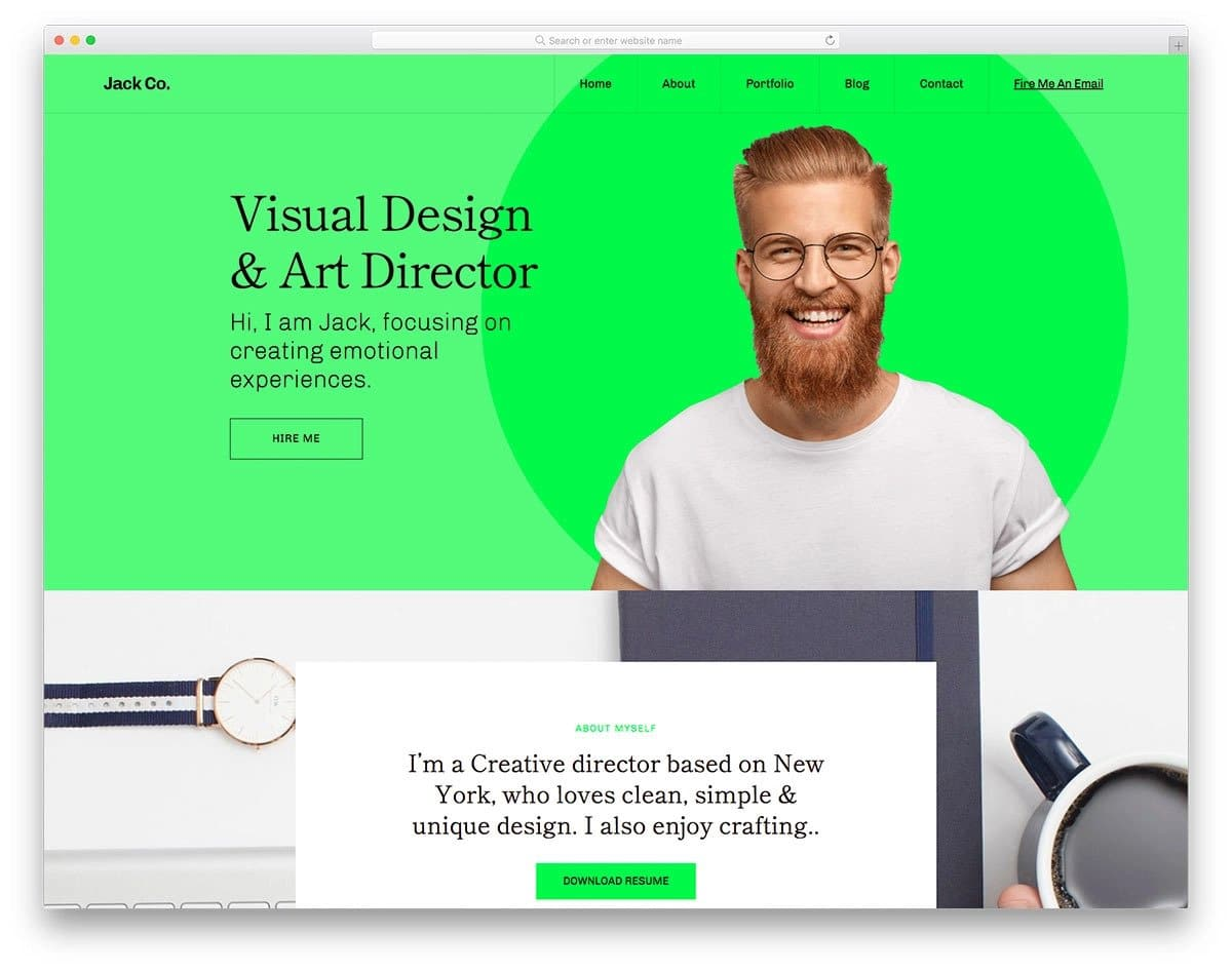 bootstrap 5 personal website template