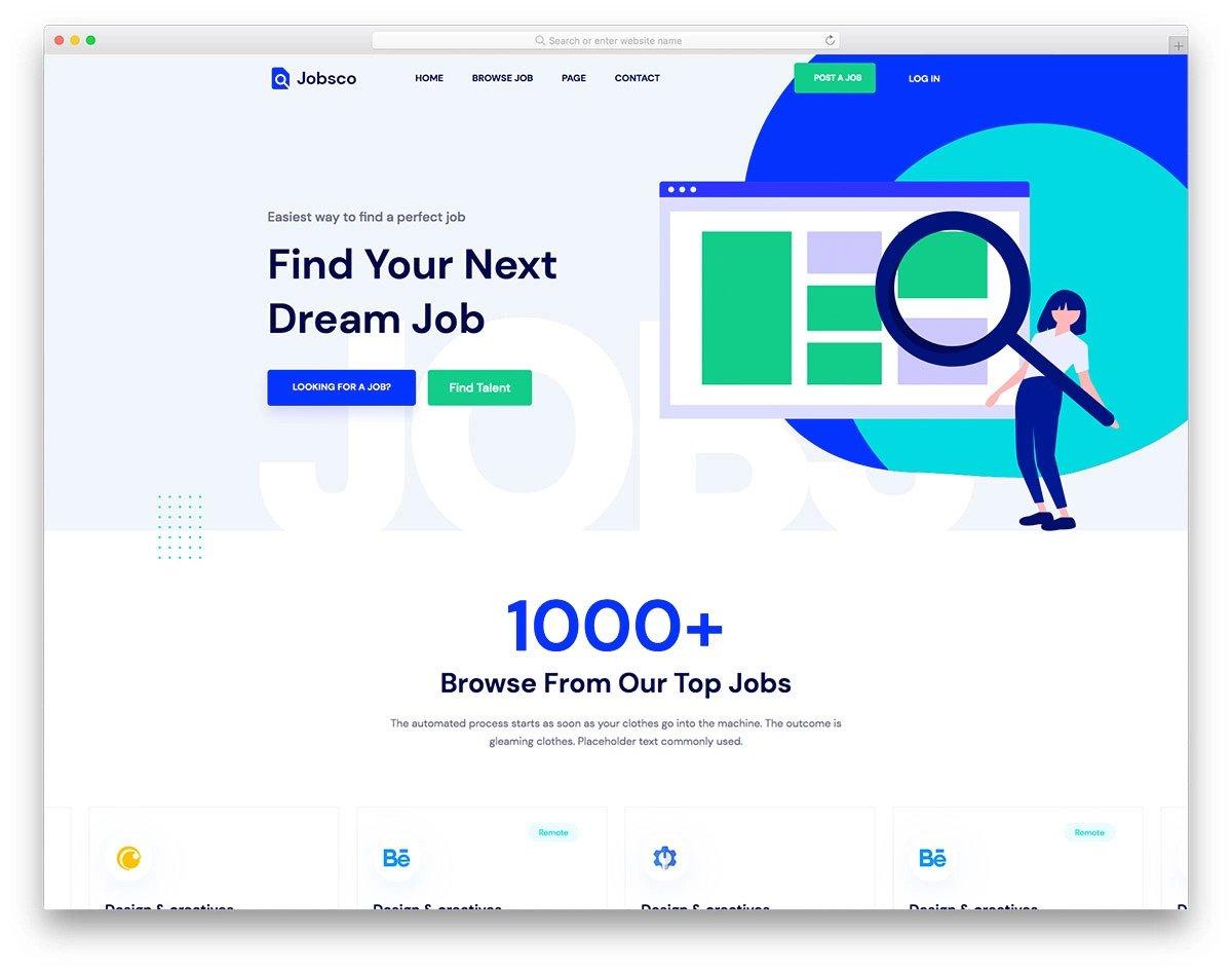 job listing website template
