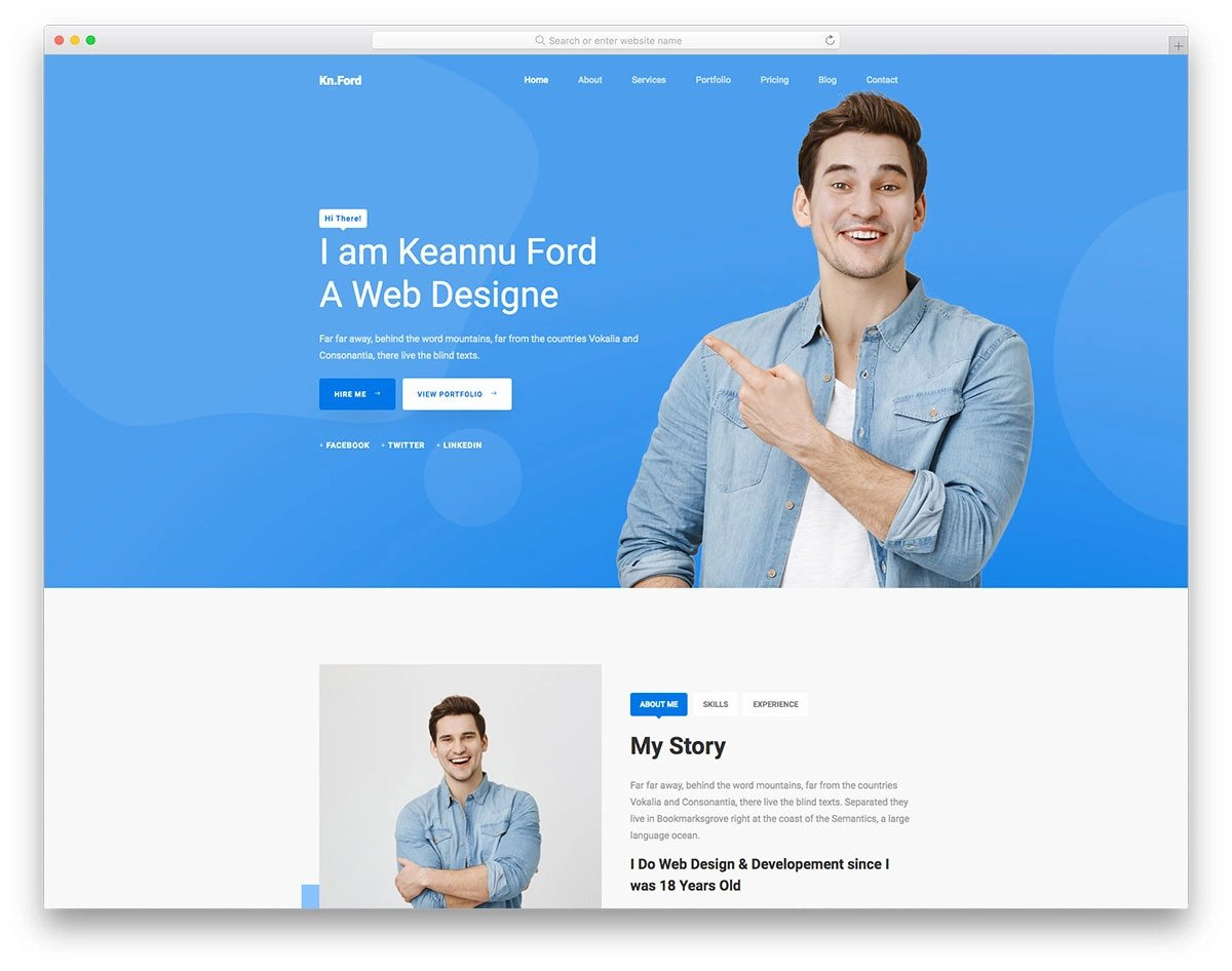 bootstrap 5 one-page freelancer website template
