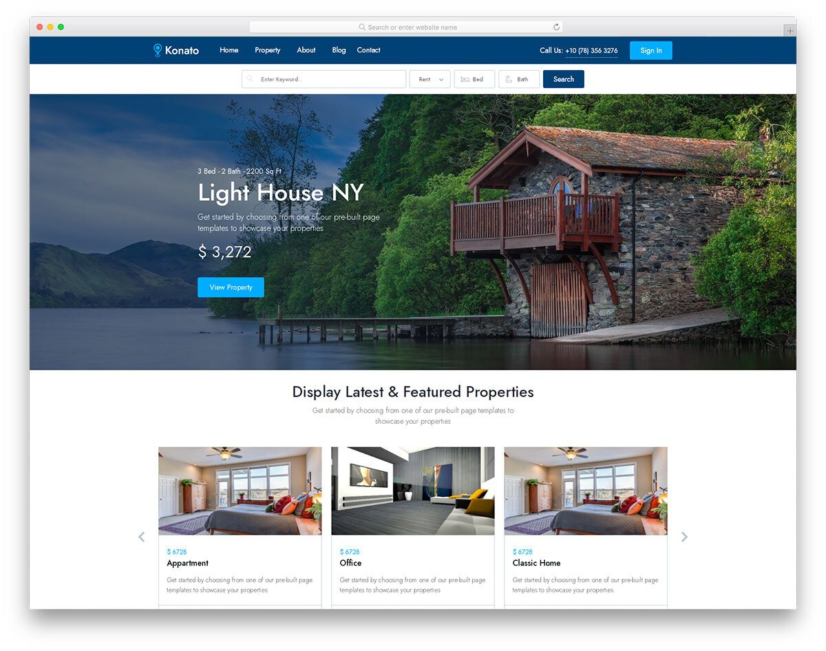 bootstrap 5 real estate website template