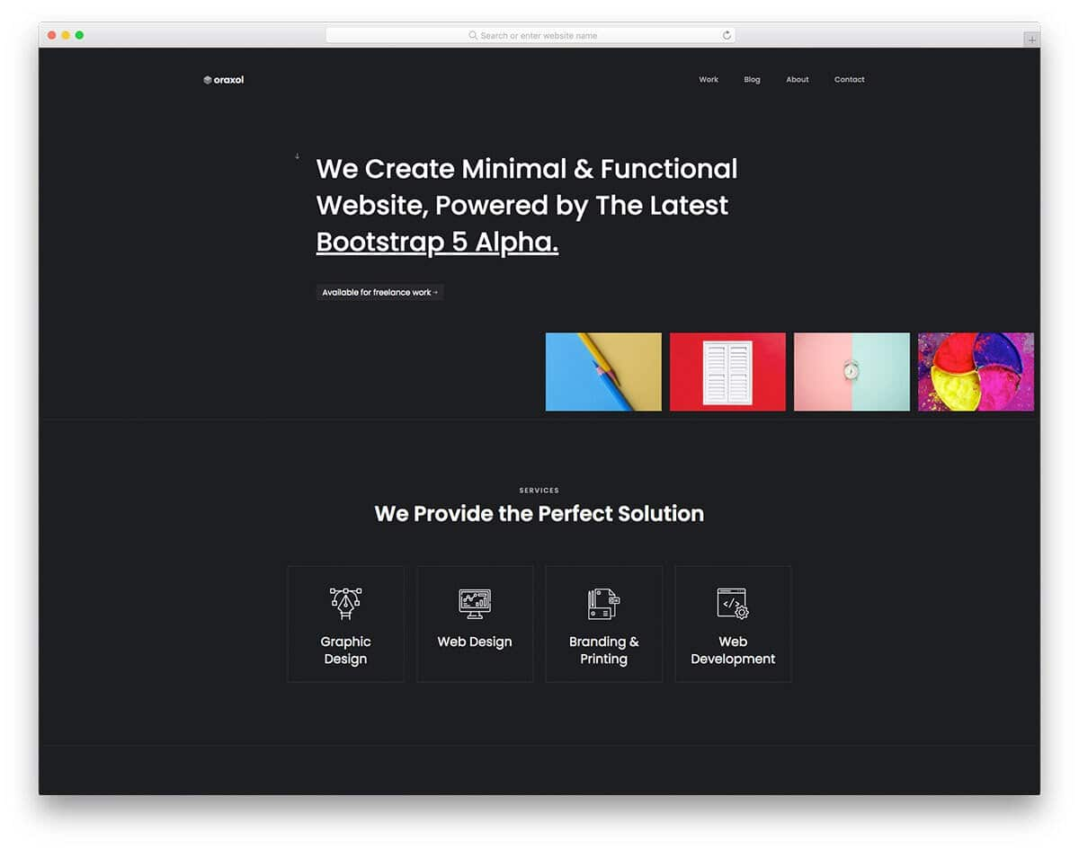 creative bootstrap business template