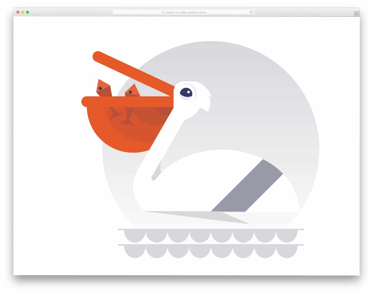 simple pelican CSS animation example