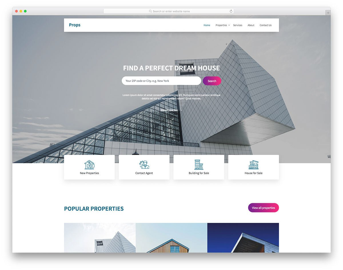stylish-looking bootstrap 5 real estate website template