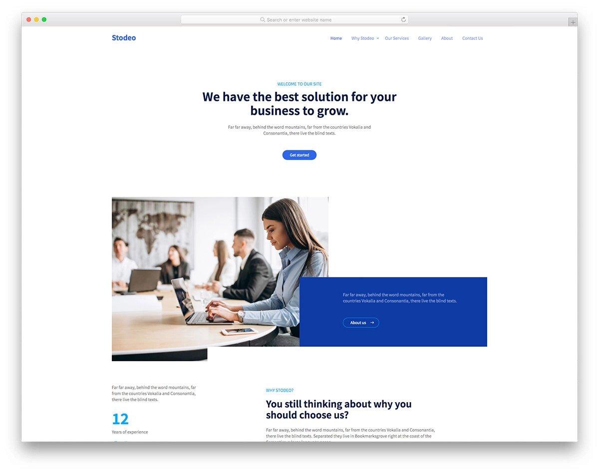 ultra clean website design template