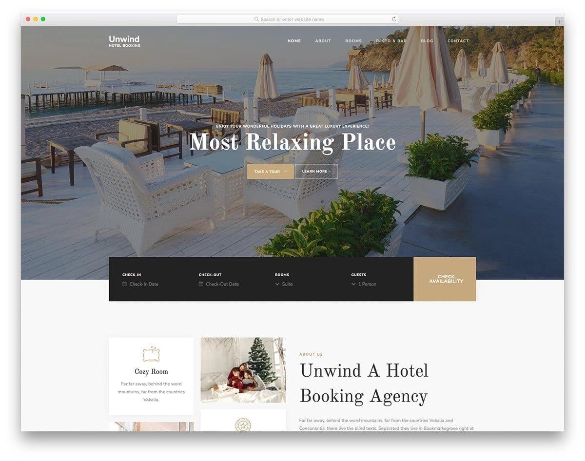 premium hotel website templates