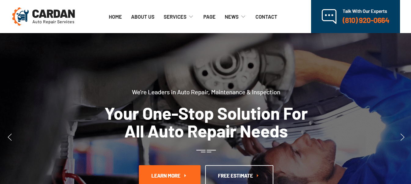cardan-automotive-website-template