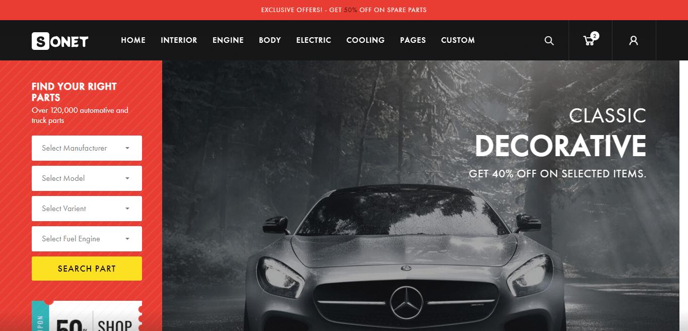 sonet-automotive-website-template