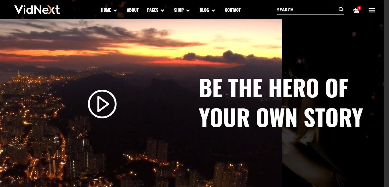 vidnext-video-website-template
