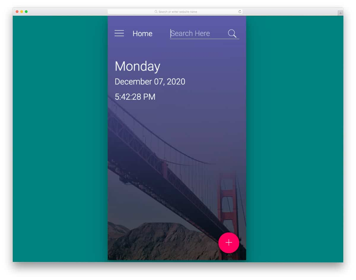 bootstrap search bar examples for mobile apps