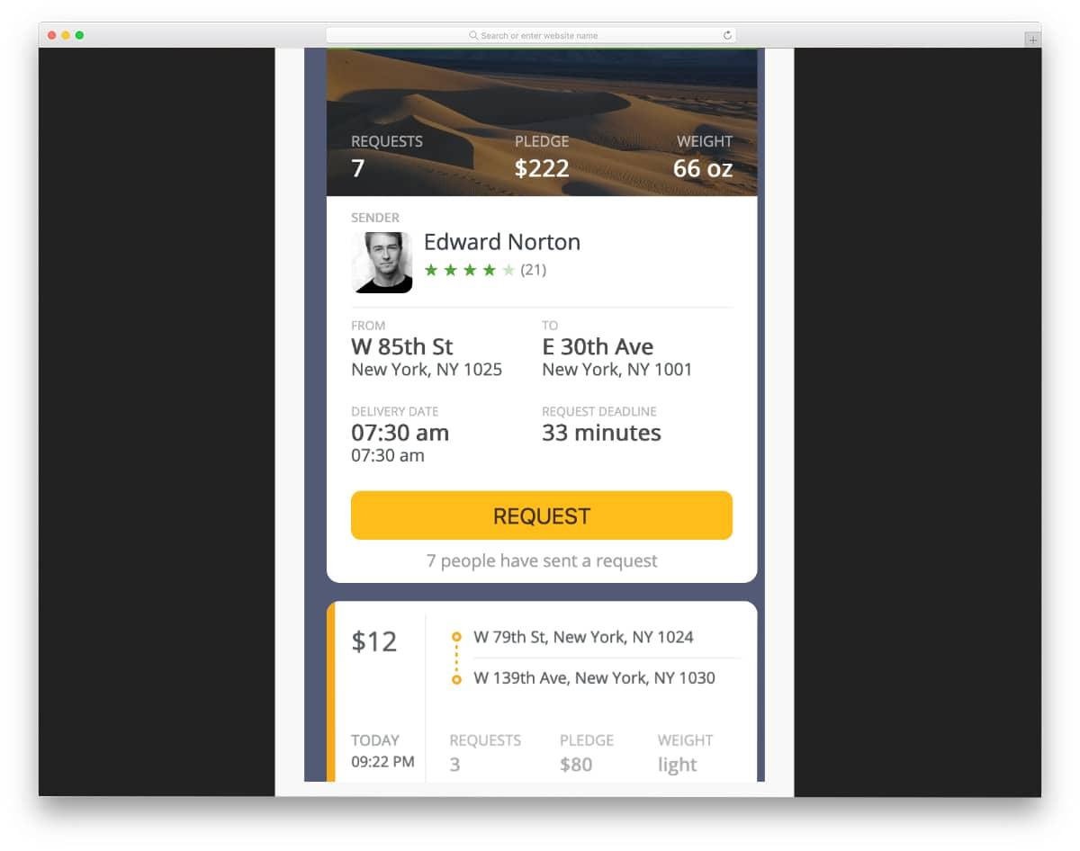 bootstrap card with UX animations