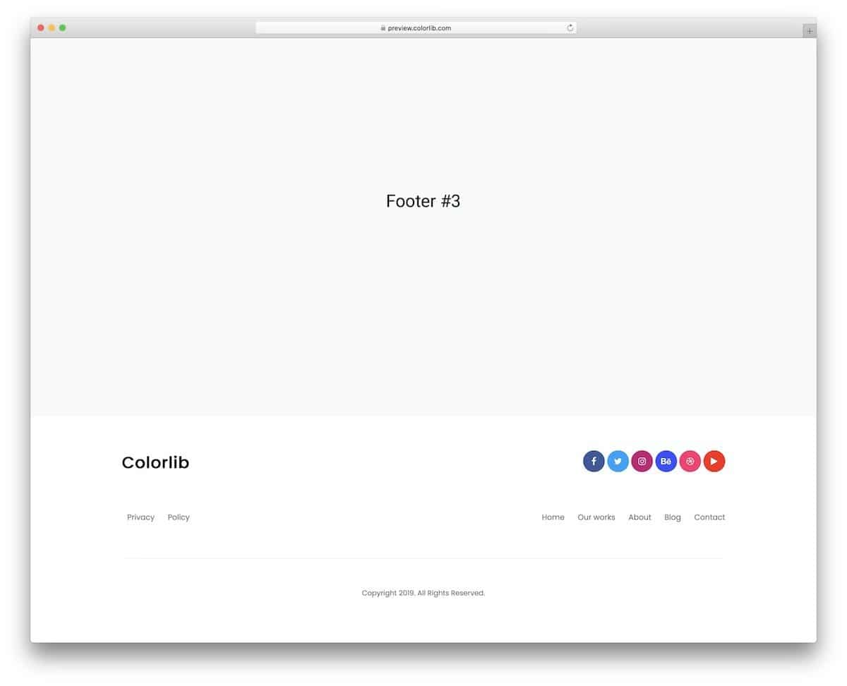 bootstrap footer example for small business websites